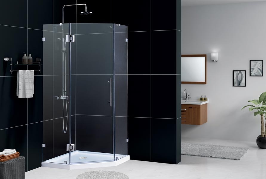 NEOLUX Shower Enclosure W/ Low Profile Tray ...