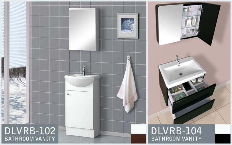 MODERN BATHROOM VANITIES DLVRB-102 AND DLVRB-104