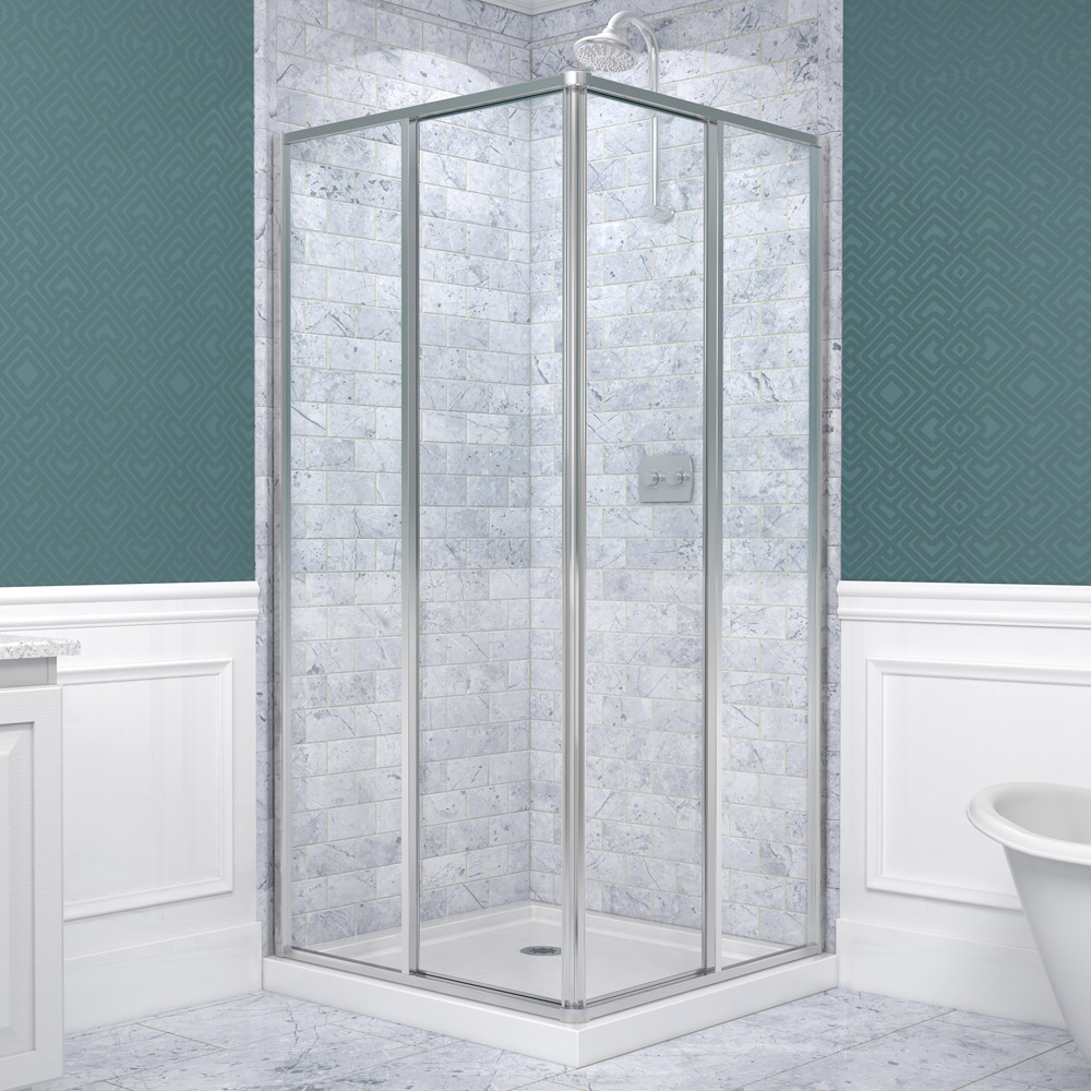 corner shower kits with walls. CornerviewSHOWER ENCLOSURES Corner Shower Door Kits  Solitaire Acrylic Stalls