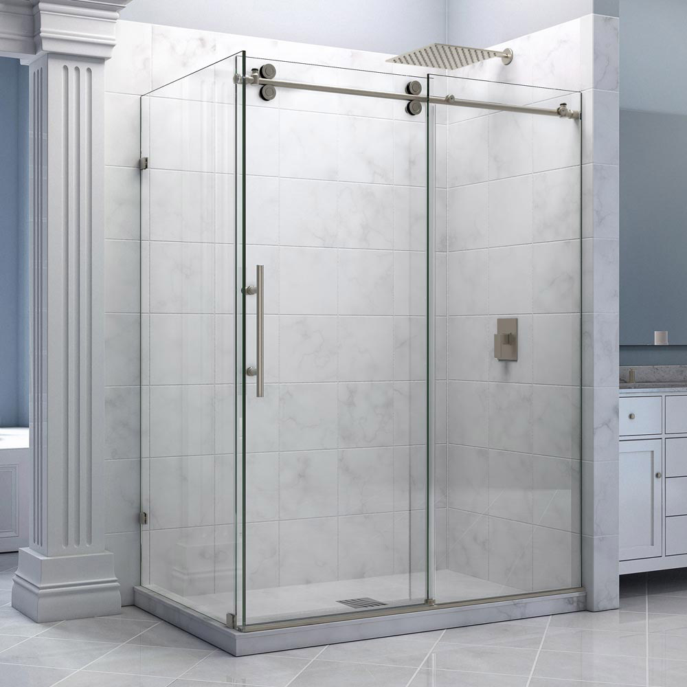 of good stair frameless image shower traditional very concept doors seamless latest door design