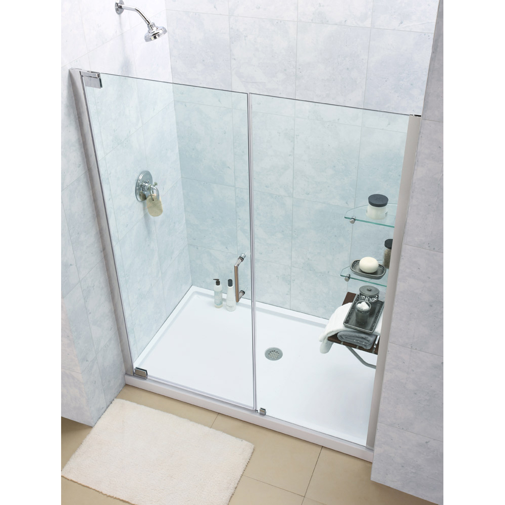 Shower door dreamline bathroom shower doors frameless glass shower - Elegance
