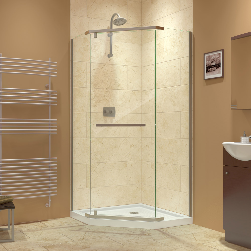 corner shower stalls with seat. Prism ENCLOSURES