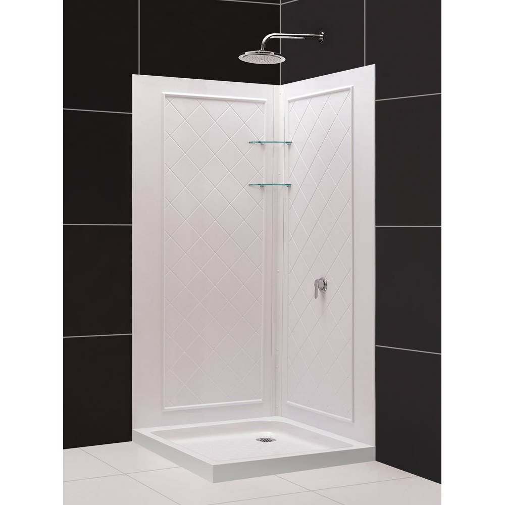 corner shower kits with walls. QWALL 4 Shower Enclosure  Base Backwall Kits