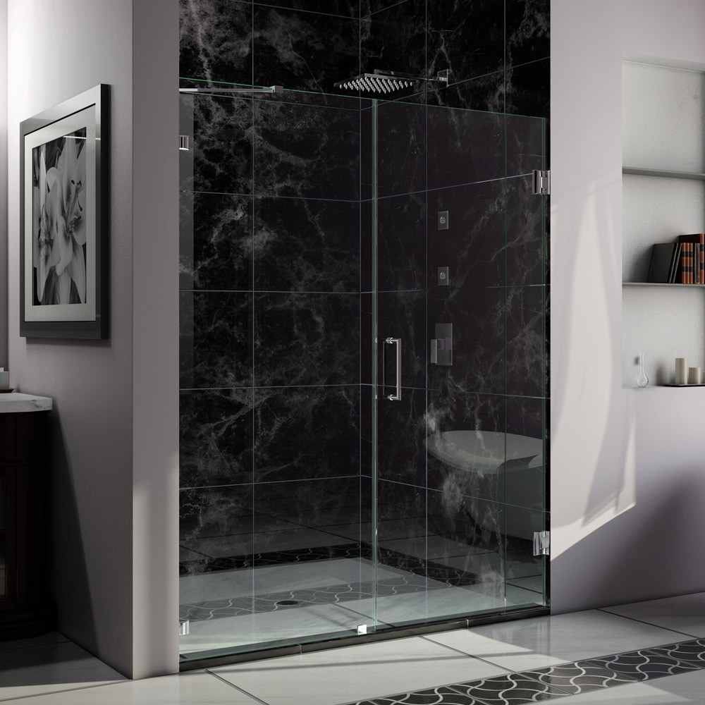 Shower door dreamline bathroom shower doors frameless glass shower - Unidoor Lux