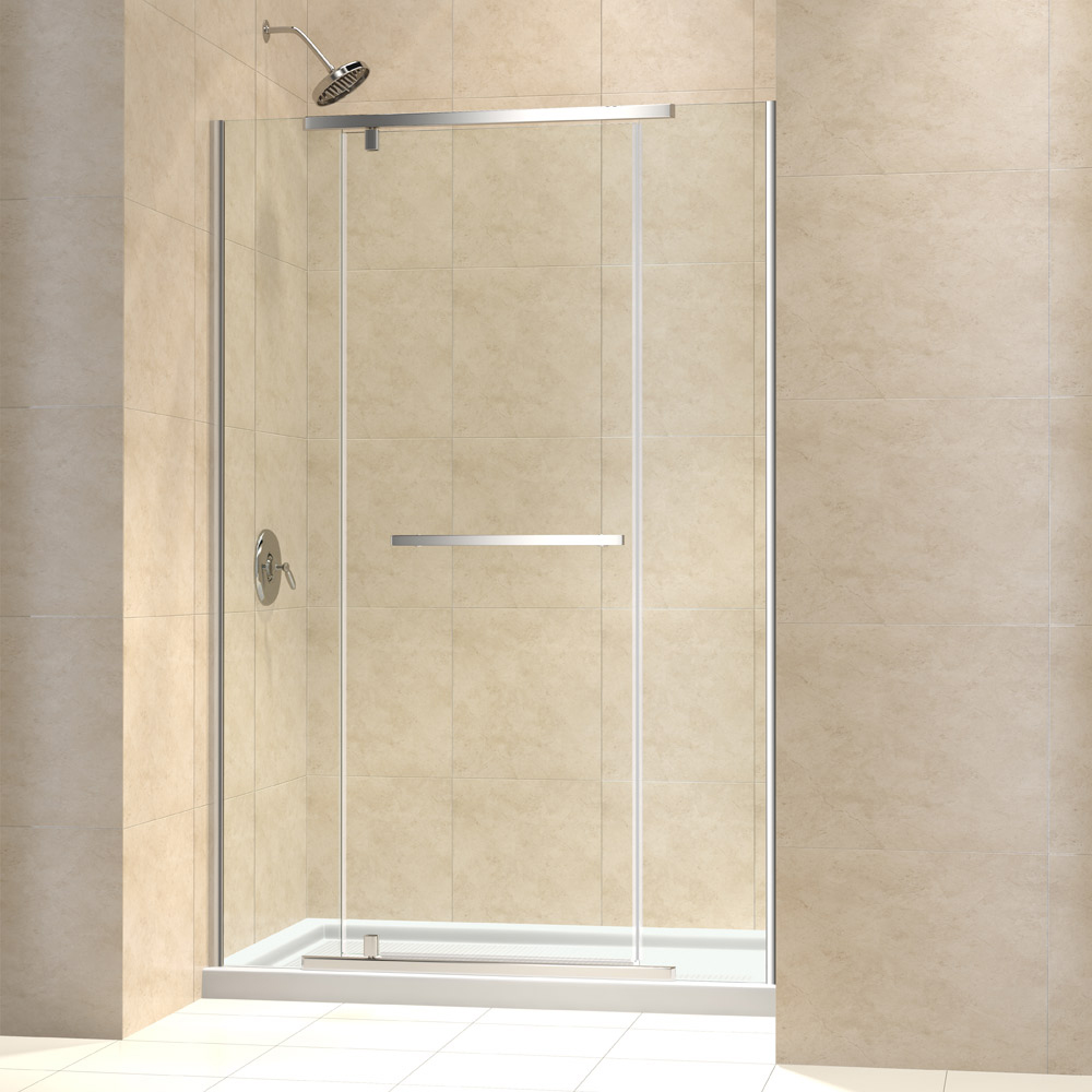 Shower door dreamline bathroom shower doors frameless glass shower - Vitreo X