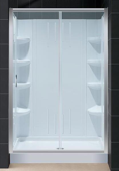 Infinity Sliding Shower Door And Shower Backwall Kit
