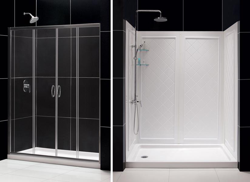 Visions Sliding Shower Door Base Amp Backwall Kits