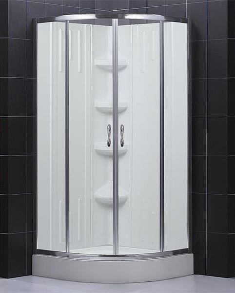 sector shower enclosure base backwall kit