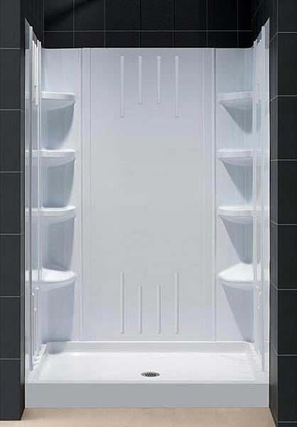 Trio Shower Base And Acrylic Shower Backwall