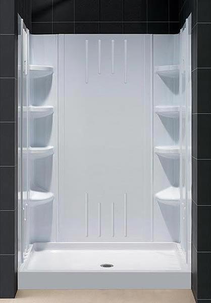Trio Shower Base Amp Backwall Kit