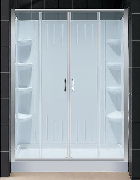Visions Sliding Shower Door And Shower Backwall Kit