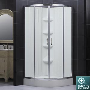 SECTOR SHOWER ENCLOSURE & BACKWALL