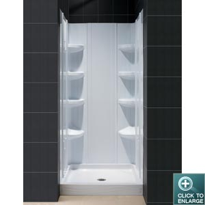 TRIO SHOWER TRAY & BACKWALL