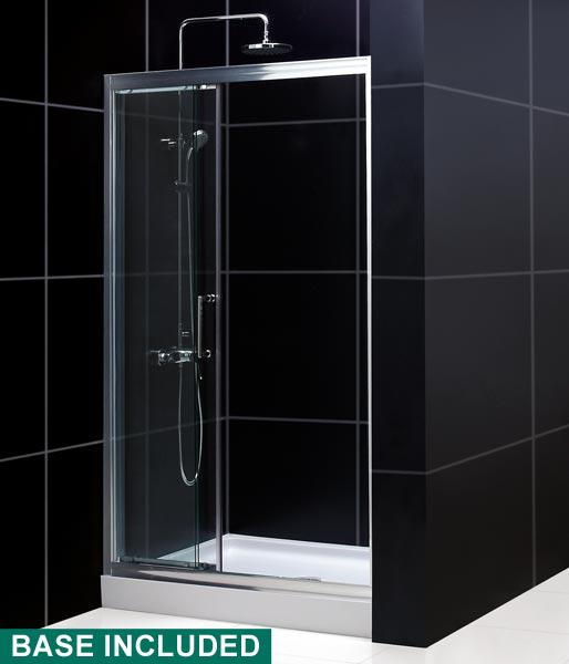 Illusion Frameless Sliding Shower Door Dreamline Bathroom