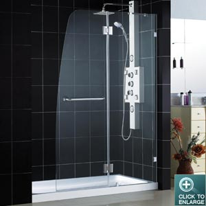 Aqua LUX Shower Door (Chrome Finish)