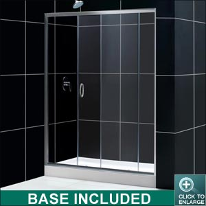 """DREAMLINE /""""36 x 48/"""" INFINITY-Z SHOWER ENCLOSURE DOOR+BASE+BACKWALLS COMBO"""