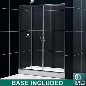 Visions Shower Door (Chrome Finish)