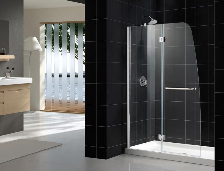 aqua shower door chrome finish
