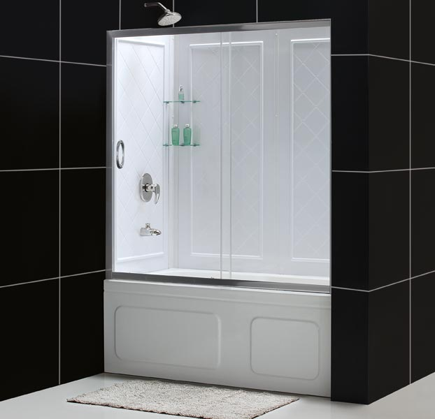 ... Infinity Tub Door with Backwall ... & DreamLine Showers: Infinity Shower Door. Frameless Bathtub Door. pezcame.com