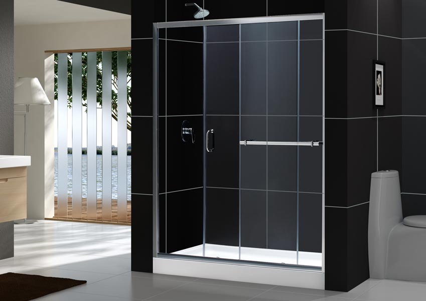 ... Infinity PLUS Sliding Shower Door (60 In.Opened Door) ... & Infinity Plus Sliding Shower Door. Glass Shower Door from ... pezcame.com