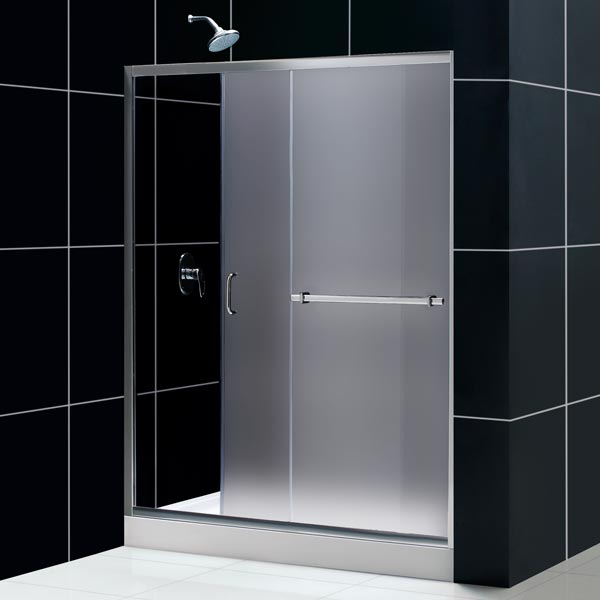 Infinity plus sliding shower door glass shower door from dreamline infinity plus sliding door 60 infrosted glass infinity plus sliding shower planetlyrics Image collections