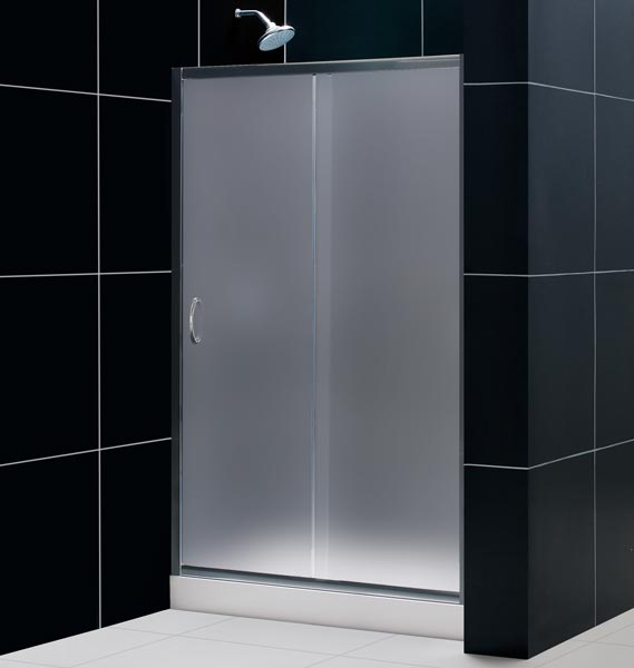 Frosted Glass Shower Doors dreamline showers: infinity bathroom shower door