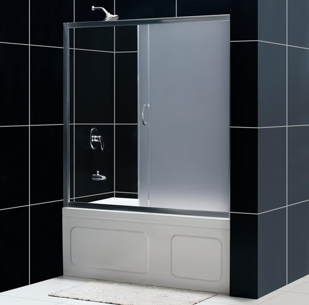 infinity tub door infinity tub door frosted glass - Bathtub Shower Doors