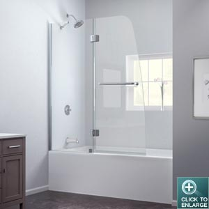 Aqua Tub Door (Chrome Finish)