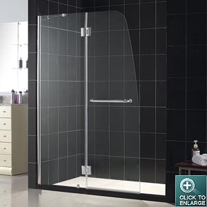 Aqua Shower Door (Chrome Finish)