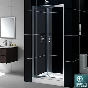 BUTTERFLY Bi-Fold Frameless Shower Door