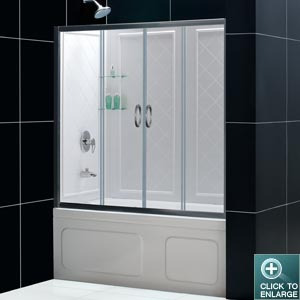 VISIONS Sliding Tub Door w/ Tub Backwall