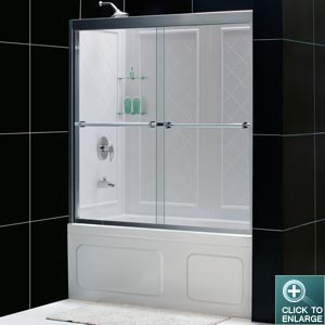 DUET Sliding Tub Door w/ Tub Backwall