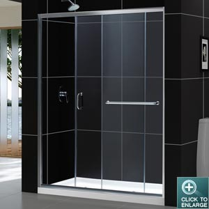 Infinity-Z Sliding Shower Door (60 In.)
