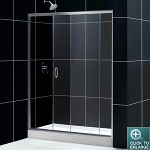 Infinity Shower Door (Chrome Finish)