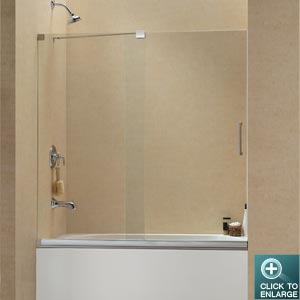 Dreamline frameless sliding glass doors for shower