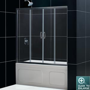 Visions Tub Door (Chrome Finish)