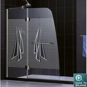 tub product frameless shower brushed hinged details clear dp door by dreamline shdr