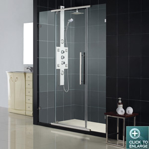 Vitreo Shower Door w/ Optional Column