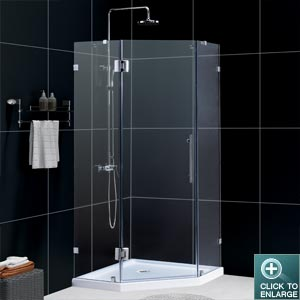 NEOLUX Shower Enclosure w/ low profile tray