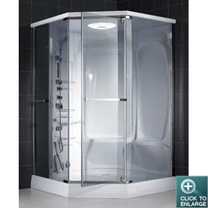 NEPTUNE Steam Shower Cabin. Chrome Finish