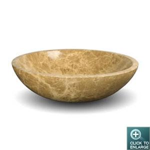 Stone Vanity Bowls : ... Sink DLVNF-001-EMLT. Emperador Light Marble Natural Stone Vanity Sink