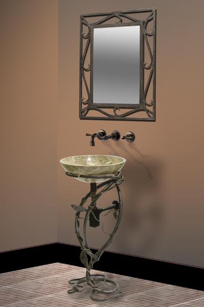 Wrought Iron Vanity iron bathroom vanities