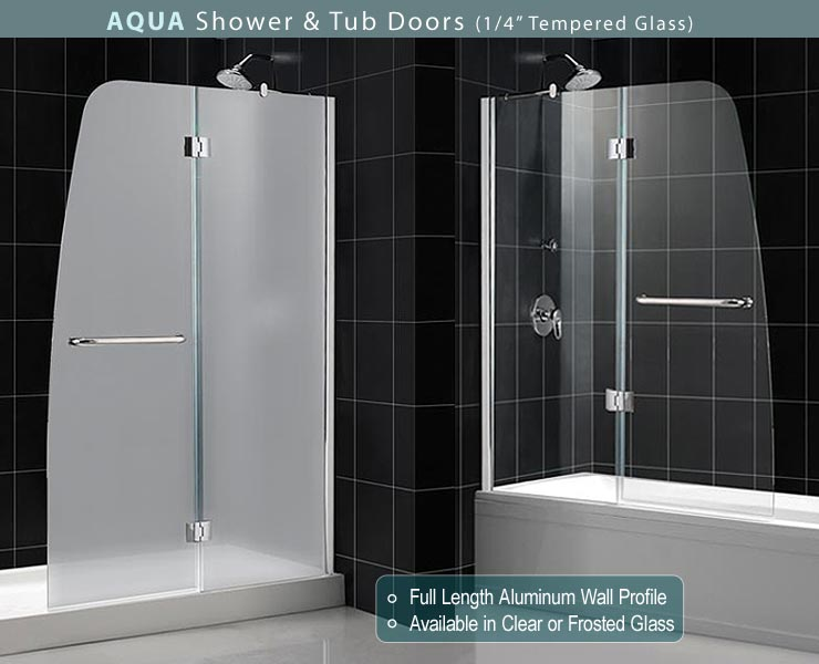 Dreamline Showers Aqua Tub Door Frosted Glass Frameless